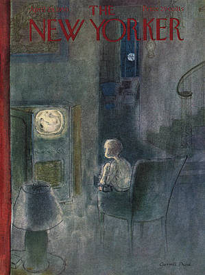 Tv Painting - New Yorker April 29th, 1950 by Garrett Price