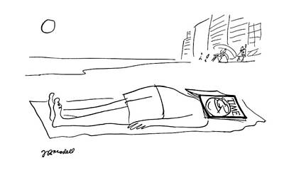Leisure Time Drawing - New Yorker April 29th, 1963 by Frank Modell