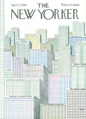 New Yorker April 2nd, 1966 Art Print