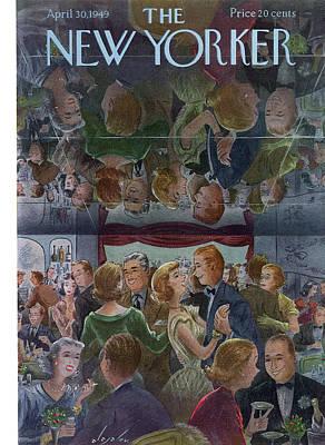 Nightclub Painting - New Yorker April 30th, 1949 by Constantin Alajalov