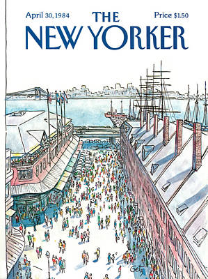 Storefront Painting - New Yorker April 30th, 1984 by Arthur Getz