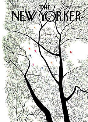 Spring Painting - New Yorker April 3rd, 1971 by Raymond Davidson