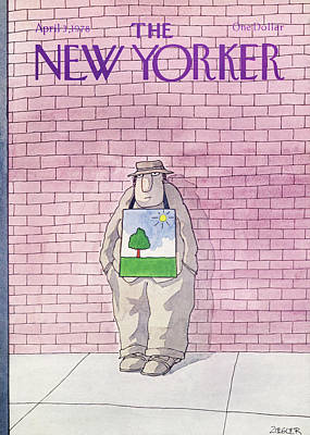 Sun And Tree Painting - New Yorker April 3rd, 1978 by Jack Ziegler