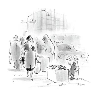 Easter Drawing - New Yorker April 4th, 1988 by Lee Lorenz