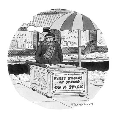 Fast Food Drawing - New Yorker April 4th, 1994 by Danny Shanahan