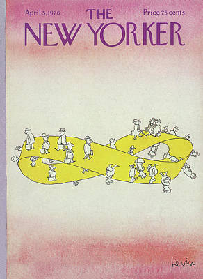 Mobius Painting - New Yorker April 5th, 1976 by Arnie Levin