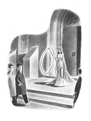 The Church Drawing - New Yorker April 6th, 1940 by Richard Taylor