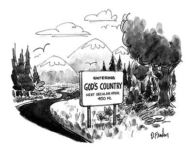 Enviroment Drawing - New Yorker April 6th, 1992 by Dana Fradon