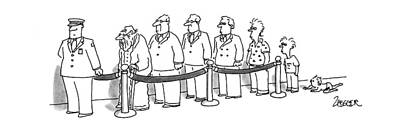 Seven Drawing - New Yorker April 6th, 1992 by Jack Ziegler