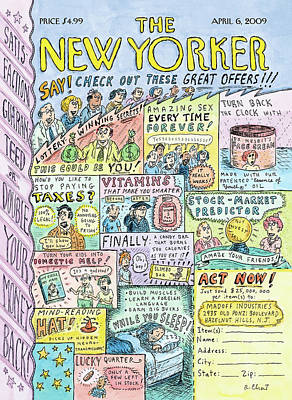 Fool Painting - New Yorker April 6th, 2009 by Roz Chast