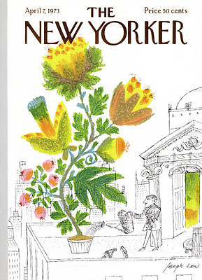 Rooftops Painting - New Yorker April 7th, 1973 by Joseph Low