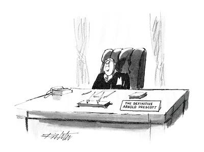 Prescott Drawing - New Yorker April 7th, 1986 by Mischa Richter
