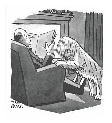Shepherds Drawing - New Yorker April 8th, 1944 by Peter Arno