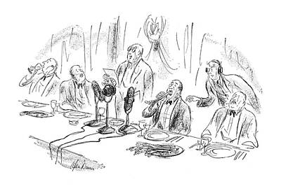 Sounds Drawing - New Yorker April 8th, 1950 by Alan Dunn