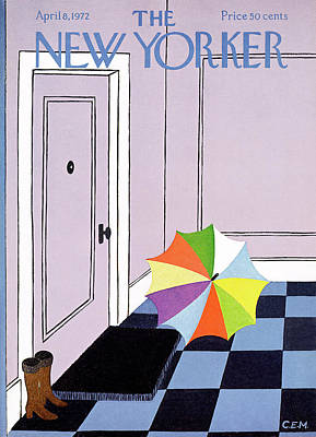 April 8th Painting - New Yorker April 8th, 1972 by Charles E. Martin