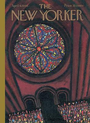 New Yorker April 9th, 1966 Art Print by Robert Kraus