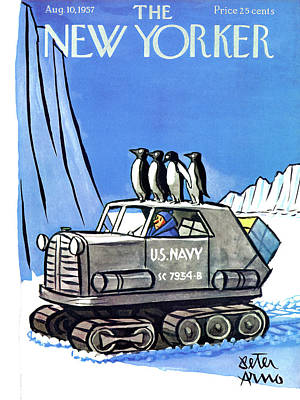 New Yorker August 10th, 1957 Art Print by Peter Arno