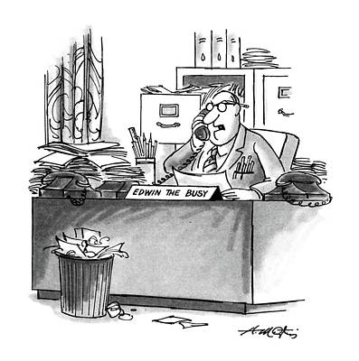 File Cabinets Drawing - New Yorker August 10th, 1987 by Henry Martin