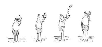 New Yorker August 11th, 1986 Art Print by Bill Woodman