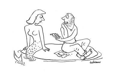 Desert Drawing - New Yorker August 12th, 1944 by Sam Cobean