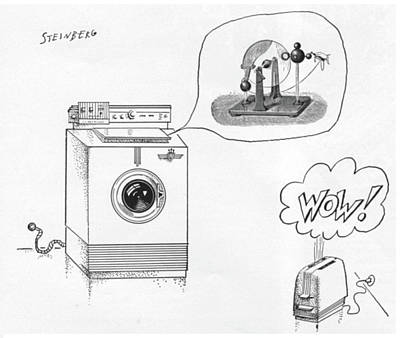 New Yorker August 12th, 1961 Art Print by Saul Steinberg