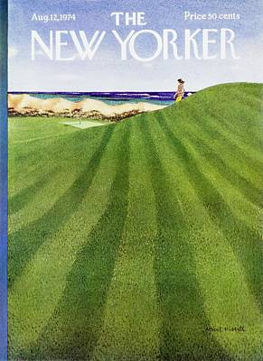 Golf Painting - New Yorker August 12th 1974 by Albert Hubbell