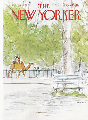 Zoo Painting - New Yorker August 13th, 1979 by James Stevenson