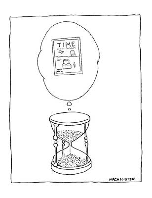 Hourglass Drawing - New Yorker August 13th, 1979 by Richard McCallister