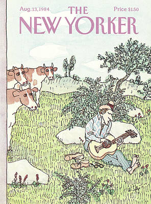Sat Painting - New Yorker August 13th, 1984 by William Steig