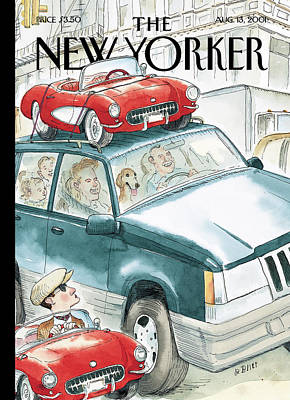 2001 Painting - New Yorker August 13th, 2001 by Barry Blitt
