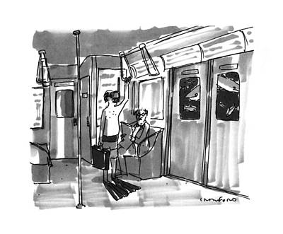 Drawing - New Yorker August 14th, 1995 by Michael Crawford