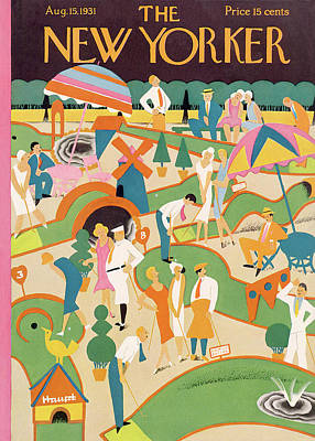 Golf Painting - New Yorker August 15th, 1931 by Theodore G. Haupt