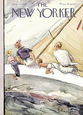 Travel Painting - New Yorker August 15th, 1942 by Perry Barlow