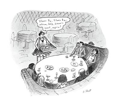 People Drawing - New Yorker August 15th, 1988 by Roz Chast