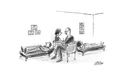 Sit-ins Drawing - New Yorker August 15th, 1988 by Warren Miller