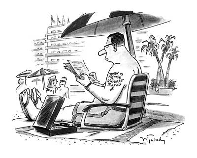 Work On Paper Drawing - New Yorker August 15th, 1994 by Mike Twohy