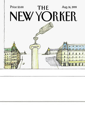 Red Wine Painting - New Yorker August 16th, 1999 by Saul Steinberg