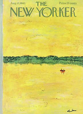 Abe Birnbaum Painting - New Yorker August 17th, 1963 by Abe Birnbaum