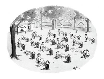 Landscape Drawing - New Yorker August 17th, 1968 by C.E. O'Glass