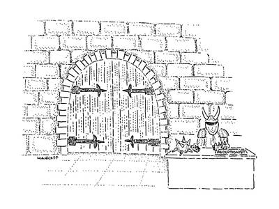 Castle Gate Drawing - New Yorker August 17th, 1987 by Robert Mankoff