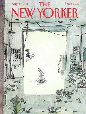 Relaxation Painting - New Yorker August 17th, 1992 by George Booth