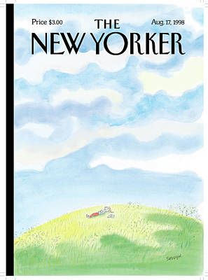 Jean Jacques Sempe Painting - New Yorker August 17th, 1998 by Jean-Jacques Sempe