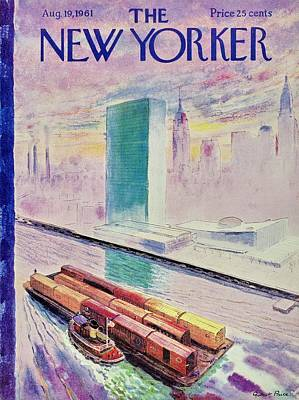 Watercraft Painting - New Yorker August 19th 1961 by Garrett Price