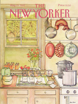 Food Painting - New Yorker August 19th, 1985 by Jenni Oliver