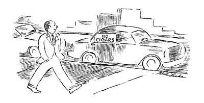 Window Signs Drawing - New Yorker August 19th, 1996 by Stuart Leeds