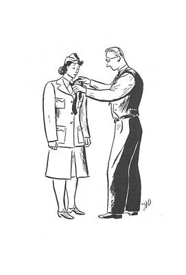 Ties Drawing - New Yorker August 1st, 1942 by  Unknown