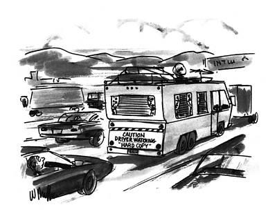 Miller Drawing - New Yorker August 1st, 1994 by Warren Miller