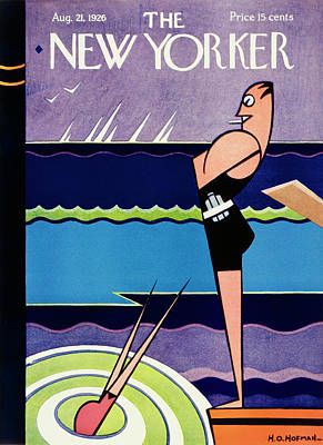 Painting - New Yorker August 21 1926 by H O Hofman