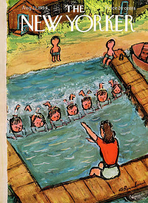Abe Birnbaum Painting - New Yorker August 21st, 1954 by Abe Birnbaum