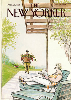 Weeding Painting - New Yorker August 21st, 1978 by Charles Saxon